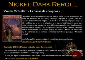 Murder party virtuelle : La danse des Dragons