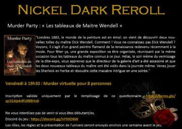 Murder party virtuelle : Les tableaux de Maitre Wendell